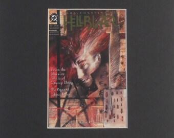 "VINTAGE DC COMICS Art - Hellblazer Postcard in Mount - 10"" x 8"" - 203mm x 254mm - Dave Mckean 1988"