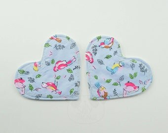 Cloth Breast Pads, Breastfeeding, Cute Pads, Boob, Heart Shaped