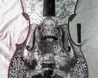 Sigismundo - 4/4 Cello - Ink Decorated