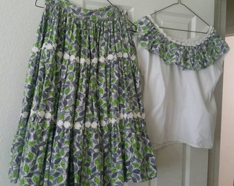 Vintage Handmade Square Dance Dress