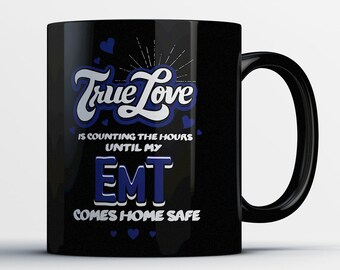 Paramedic Wife Gift - EMT Wife Mug - Proud Paramedic Wife Coffee Cup - Emergency Medical Technician Wife