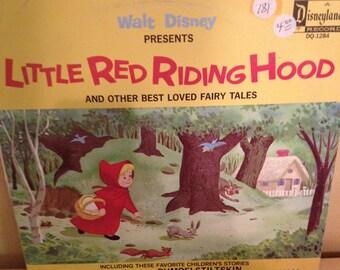 """Little Red Ridding Hood """" Children's Record Album"""""""