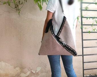 Origami/Crochet 100% cottton/ Leather (SALE)