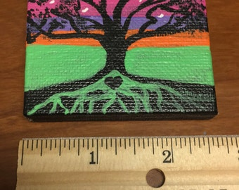 Tree- minicanvas original  handmade acrylic art