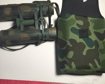 Binoculars in soft case