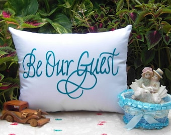 Beautiful Hand Crafted--FREE SHIPPING-- Be our guest Cushion Pillow Love Gift for near and dears.
