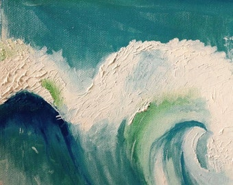 Ocean Wave Oil Painting