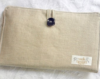 Knitting Needle Organizer Case in Linen