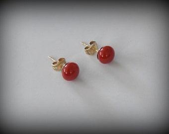 Stud Earrings-glass jewelry