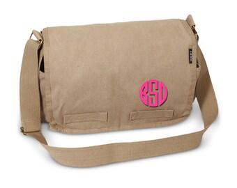 Messenger Bag - Monogram Messenger Bag - Monogram Tote - Charcoal Messenger Bag