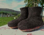 Icelandic fleece slipper boots