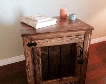 Reclaimed wood nightstand