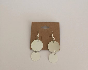 Handmade Jewelry- Silver Disc Earrings