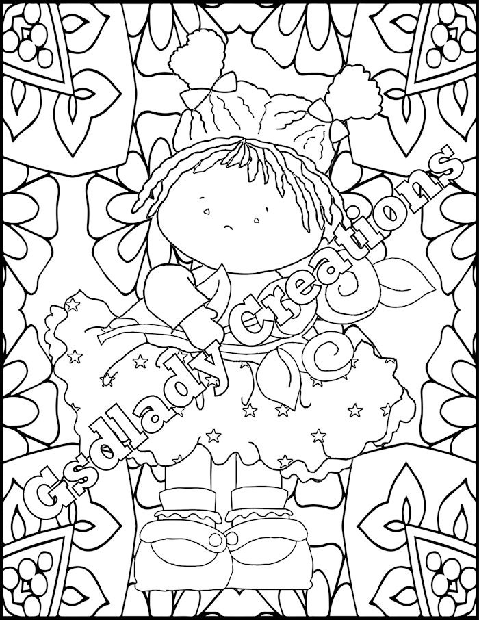 country girl coloring pages - coloring page country flower girl dress mandala coloring