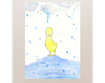 Duck Kids Art // Nursery Art // 'Oh Baby, Baby!' Baby and Kids Framed Prints // Wall Art // Children