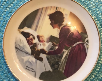 Antique Norman Rockwell Special Edition Collector's Porcelain Plate