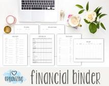 Financial Binder: Instant Printable Download