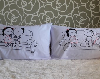 25B- Live your Life !  Bed Pillow Cases / Covers