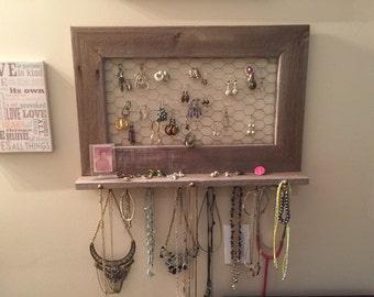 barnwood jewelry holder