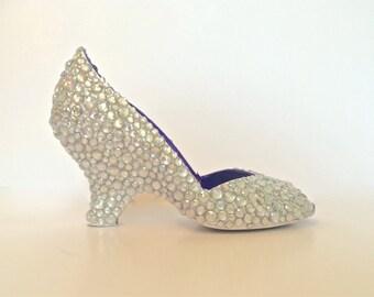 SINDERELLA'S SLIPPERS - Custom, Hand-Painted Wedge Heels - Art a la carte