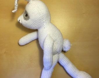 Handmade Knit Stuffed Bunny, Rabbit, Kids Toy, Baby Gift, Soft Toy, Stuffed Bear