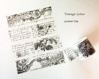Vintage Letter Washi Tape - Limited Offer