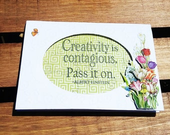 Creativity is Contagious Note Cards
