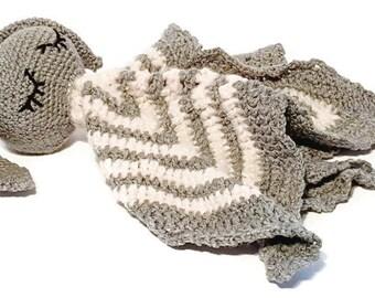 Alastair Bunny cuddle blanket blanket-plush-teddy bear-knitting - made proof hand-Quebec-rabbit-toy-blanket-handmade-safe-child
