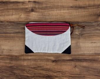Peninah Vibrant Stripe Clutch