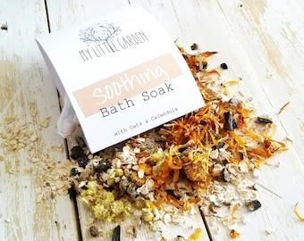 Oats Bath Soak, Tub Tea, Calendula Tub Tea, Calendula Tea Bath, Tea Bath, Organic Bath Soak, Soothing Bath Soak, Tea for Bath, Bath Salts