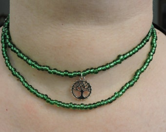 Tree of Life Glass Bead Choker