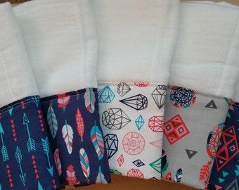 Tribal themed burp cloth
