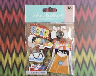 Bowling scrapbook stickers sy Jolee's Boutique