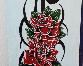 Tibal rose hand painted Nr. 01