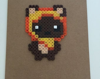 Star Wars Ewok Greeting Card. Pixel Art