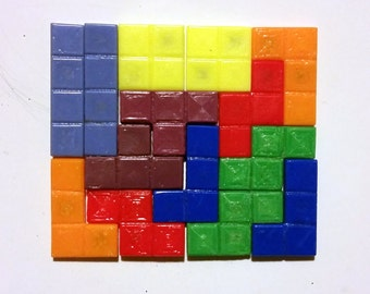 Tetris Refrigerator Magnets - 14 piece set