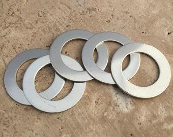 Nickel Washer Blanks - 20-Guage Stamping Blanks - Jewelry Making Blanks - Tumbled Blanks - Deburred Nickel Washer Blanks - Nickel Shapes