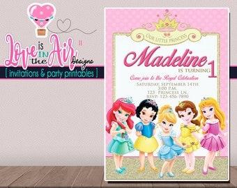 Disney Princess Birthday Party Invitation - DIGITAL FILE - PRINTABLE