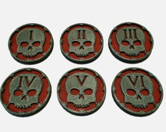 Objective Markers - Skull Counters Set (x6)