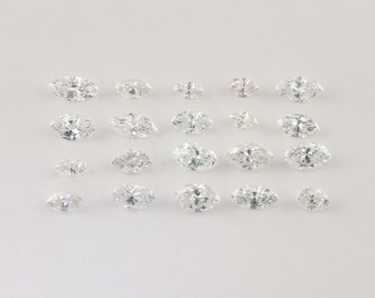 1.64 ctw, Marquise Loose Diamonds, White, I1 - I2, 2.8mm - 4.5mm
