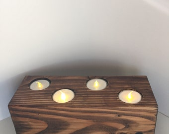 Horizontal Reversible Tea Light / Candle Base