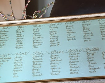 Hand Lettered Seating Chart