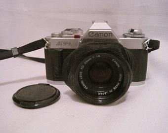 Canon AV-1 Camera and 50mm Lens