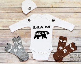 Baby Boy Coming Home Outfit, Personalized Baby Gift, Baby Boy Clothes