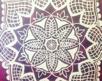 Flower Pattern Painting
