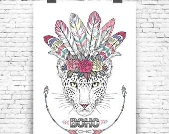 Art Print Boho Chic