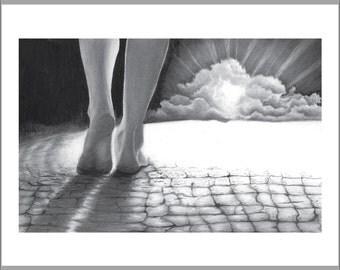 I See The Cloud, Print Illustration.