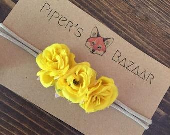 Marigold Flower Baby Headband