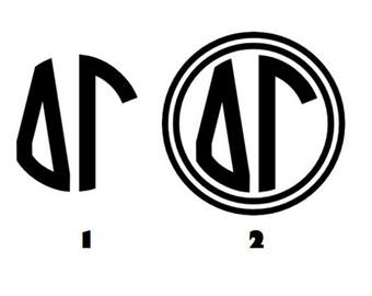 Delta Gamma Monogram Decal