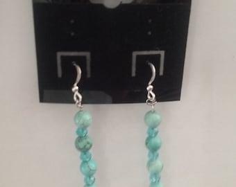 Teal/blue Dangle and Drop Earrings